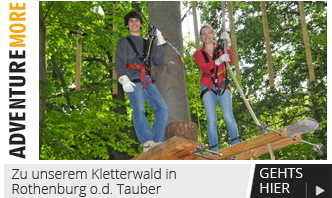 More Adventure - Zu unserem Kletterwald in Rothenburg  ob der Tauber
